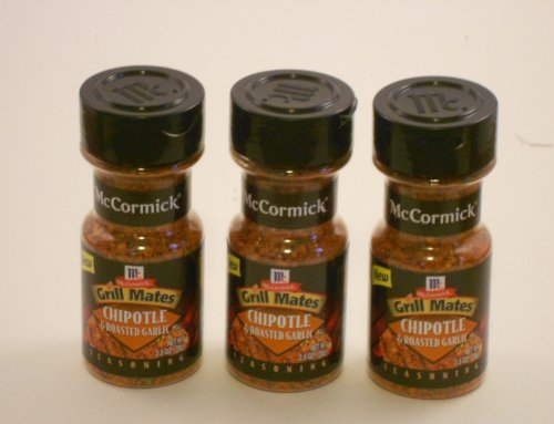 McCormick Grill Mates Chipotle & Roasted Garlic Seasoning, 2.5 OZ (Pack - 3) by McCormick (Image #1)