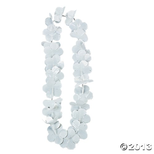 1 Dz. White Flower Leis - Hawaii Party Supplies by Fun Express