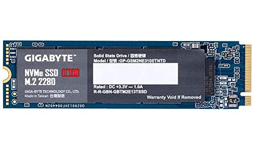 Gigabyte NVMe 1TB M.2 Solid State Drive