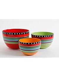 Buy Ge Pueblo Springs 3pc Bowl Set, Durastone Giftboxed, Mixing Bowls compare
