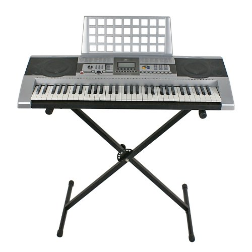 Musical Instruments-Premium Electric Keyboard-Electronic Piano Keyboard 61 Key Music Key Board Piano With X Stand Heavy Duty-Start Playing Now-Guaranteed!