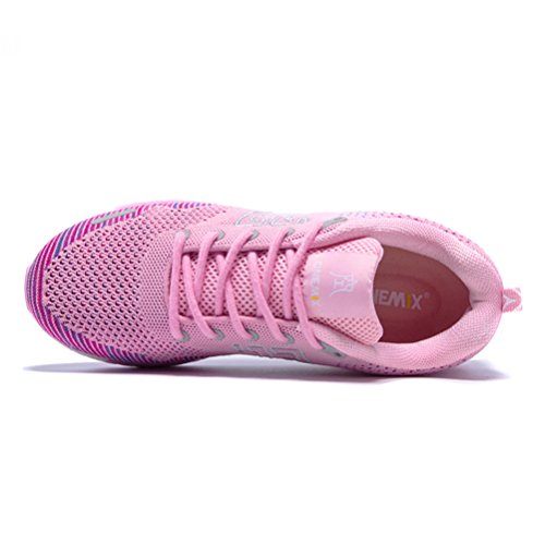 Yidiar Womens Athletic Speed Trail Running Shoes Winter Spring Walking Jogging Sportivo Da Strada Sneakers Da Ginnastica Rosa