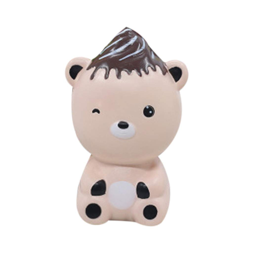 Stress Reliever Simulated Cute Bear Scented Super Slow Rising Kids Squeezable Favors for Kids Toy (Pink)