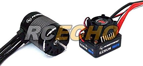 RCECHO® HOBBYWING EZRUN Black G2 3652SL 4000KV Brushless Motor & Max10 60A ESC ME143 with 174; Full Version Apps Edition