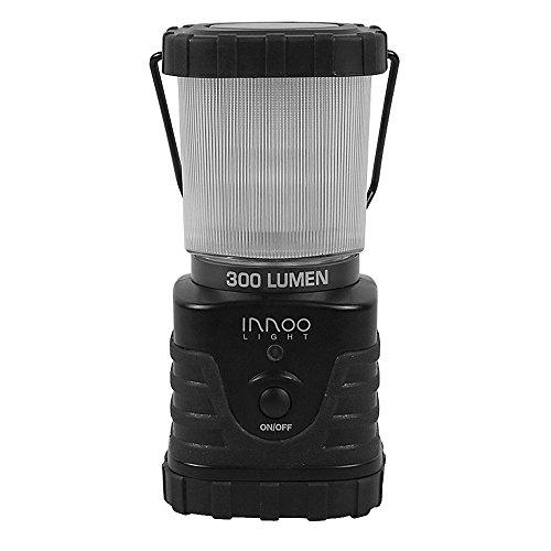 InnooLight LED Camping Laterne 300lm tragbar, 3 Helligkeitsstufe, Batteriebetrieben, IP65, stoßfest, rutschfest, Wasserdicht Campinglampe Campingleuchte für Wandern, Notfall, Hurrikane, Ausfälle