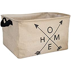 Extra Large Home Storage Basket (20x15x11) - Farmhouse Decor - Rustic Style - Perfect for Toys, Towels, Laundry, Diapers, Clothing or Housewarming Gift.