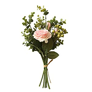 AIUSD Range Rose Hydrangea Flowers Bouquet Bunch Home Wedding Party Gift Deco 29