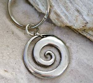 Zealand Hawkes New Bay (Pewter Maori Spiral Koru Peace and Tranquility Keychain Key Tag)