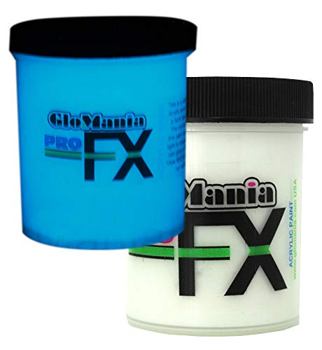 ProFX Blue Glow in The Dark Paint, Luminous, Glowing 1 Ounce ()