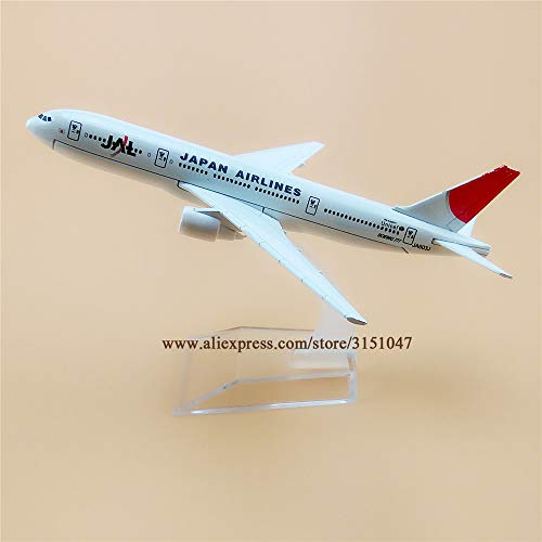 ZAMTAC Alloy Metal Air JAL Japan Airlines B777 Airplane Model JAL Boeing 777 Airways Plane Model Stand Aircraft Kids Gifts 16cm
