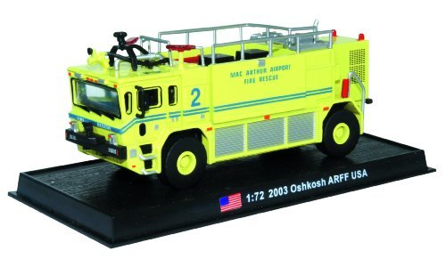 - Oshkosh ARFF - 2003 diecast 1:72 fire truck model (Amercom SF-40)