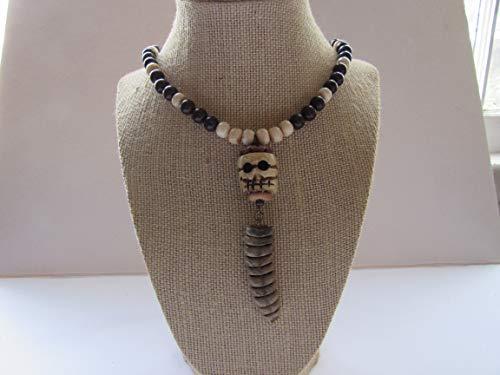 Snake Skull Pendant Rattlesnake Rattler Necklace Animal Bone Boho Jewelry Tribal Spirit Animal N488