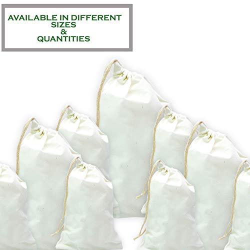 (Pack of 25) - 4x6 inches Natural Cotton Muslin Drawstring Bags -Eco Friendly