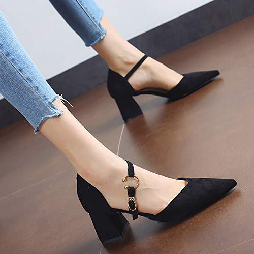 Plein Des Hauts Talons Et Mode Simples Pointus Chaussures La Avec Air Travail De A Confortables Flyrcx Creux Simples ZgnvqwqB