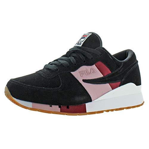 Fila Women's Original Running Chiara Suede Retro Fashion Sneaker Black Size 10