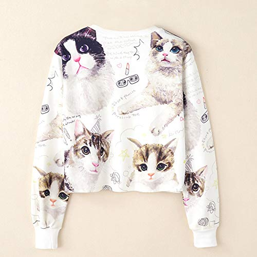 Top Long Sleeve Pullover Print Women Blouse Sweatshirt Morwind White Casual 0ASpw1xHq