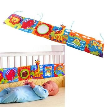 Colorful Soft Cloth Bed Bumper for 1-12 Month Babies – Designed for Babies' Early Development – Encourages Baby Exploration – Durable and Easy to Wash – Premium Quality and Baby Friendly Bumper – Unis