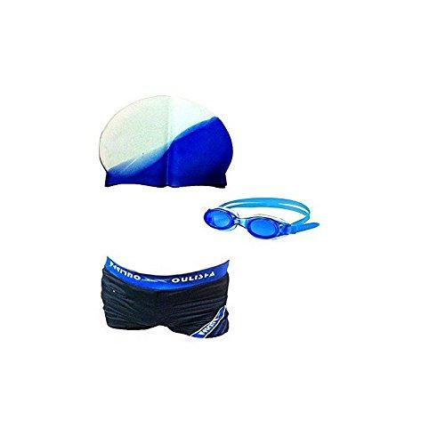 Latex Swimming Kit, Adult Free Size, Shorts, Cap, Goggles