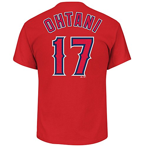 OuterStuff Shohei Ohtani Los Angeles Angels Youth Player Name & Number T-Shirt (Youth Small 8)