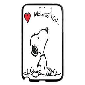 Cute Snoopy Partern Hard Case Cover For Samsung Galaxy Note 2 Case TPUKO-Q868290