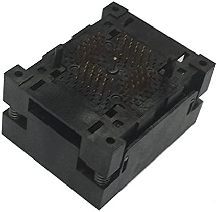 QFN56 MLF56 Burn in Socket IC Test Socket Pitch 0.5mm Chip Size 8x8mm Flash Adapter Open Top for machine mass test with Even pad matrix QFN IC factory