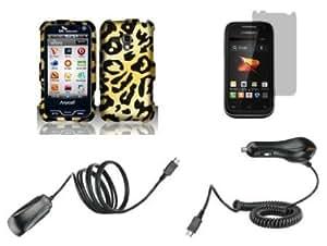 Cerhinu Samsung Galaxy Rush (Boost Mobile) Combo - Cheetah Design Shield Case + Atom LED Keychain Light + Screen Protector...