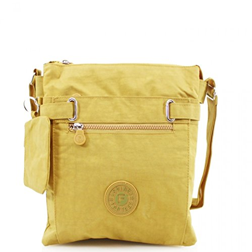 Yellow 108 LeahWard Bags Holiday Body Shoulder Canvas Mustard Cross Women's fafCqzS