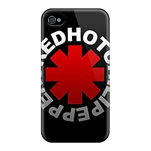 Hot Fashion Design Case Cover For Iphone 4/4s Protective Case (red Hot Chili Peppers) by runtopwell