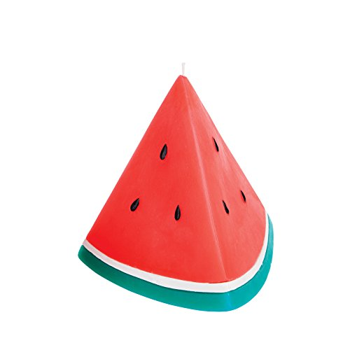 SunnyLife Decorative Figurine Statement Candle for Indoor Outdoor Home Decor - Watermelon, Large