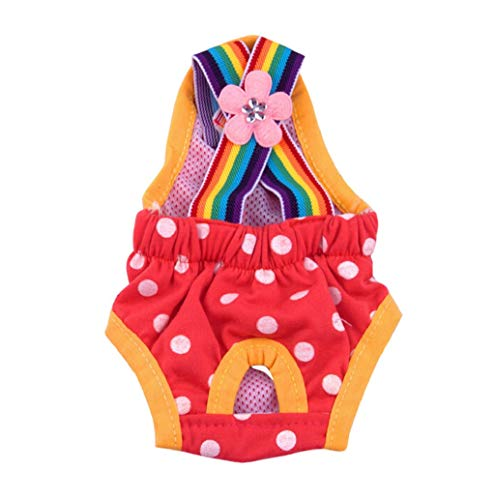 Pet Sweater,JHKUNO Dog Rainbow Wide Suspenders Diapers Washable Durable Doggie Diapers Pants Dog Wraps Doggy ()