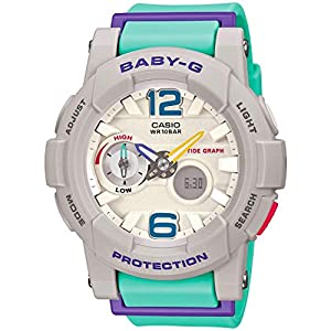 41Tpqz4Az%2BL. SS300  - Casio G-Shock Women's BGA-180-3BCR Green/Purple Watch
