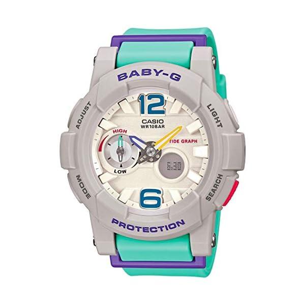 41Tpqz4Az%2BL. SS600  - Casio G-Shock Women's BGA-180-3BCR Green/Purple Watch