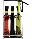 Gourmet Infused Olive Oils & Vinegar Trio Gift Set | Chili Infused Oil, Italian Extra Virgin Olive Oil & Italian Balsamic Vinegar to be enjoyed with Pizza, Salads, Pasta, and More