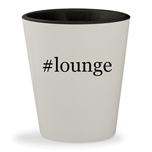 #lounge - Hashtag White Outer & Black Inner Ceramic 1.5oz Shot Glass (Midnight Rendezvous Pillow)