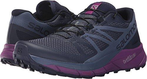Salomon Sense Ride Trail Running Shoe - Women's Evening Blue/Crown Blue/Grape Juice 8