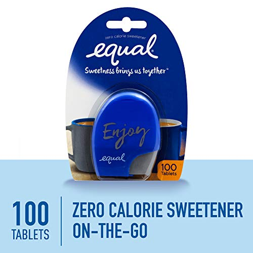EQUAL 0 Calorie Sweetener Tablets, Sugar Substitute, Zero Calorie Sugar Free Sweetener Tablets, 100-Count