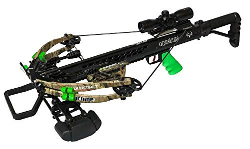 Killer Instinct MACHINE (Bone Collector Edition) - High Performance Crossbow - Includes KI LUMIX Scope, 3 Bolts, Quiver, and Deadening String Suppressors - With TriggerTech FRT