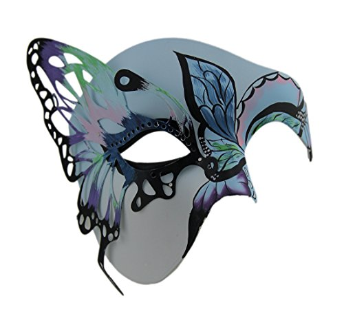 Zeckos Butterfly Masquerade Colorful Half Face Mask -