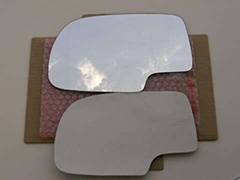 CAR MIRROR BAZAR New Replacement Mirror Glass with FULL SIZE ADHESIVE for Silverado Suburban Tahoe Sierra Yukon Driver Side View Left - Suburban Driver Mirror Glass