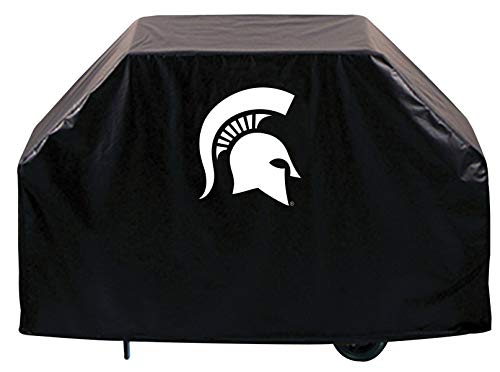 (Holland Bar Stool Co. Michigan State Spartans HBS Black Outdoor Heavy Duty Vinyl BBQ Grill Cover (72