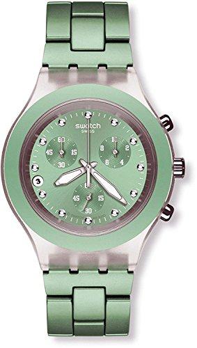 Swatch Men's SVCK4056AG Quarts Date Greendial Plastic Watch