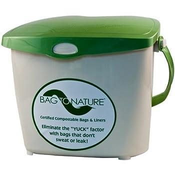 Amazon Com Bag To Nature Indoor Compost Bin 1 9 Gallon
