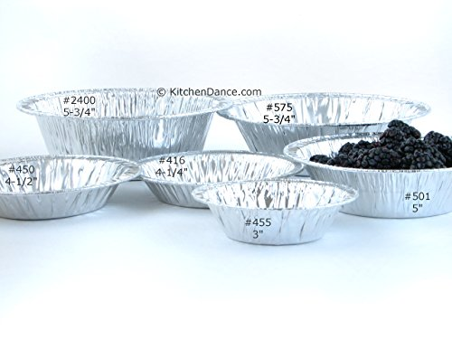 Disposable Aluminum 3'' Tart Pans/ Individual Pie Pans #301 (2,000)