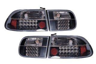 SONAR(ソナー) LED 切れ 水漏れ1年間保証付! LED テール ランプ ブラック インナー クリスタル レンズ EG シビック 3ドア B007NIT242