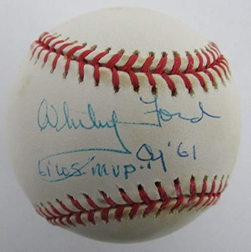 Whitey Ford Yankees Signed/Autographed/Inscr Rawlings OAL Baseball JSA - Oal Baseball Ball