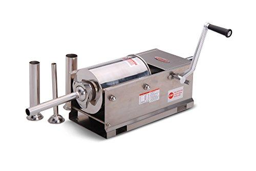 Hakka Sausage Stuffer 2 Speed Stainless Steel Vertical Sausage Maker (7Lb/3L(Horizontal))