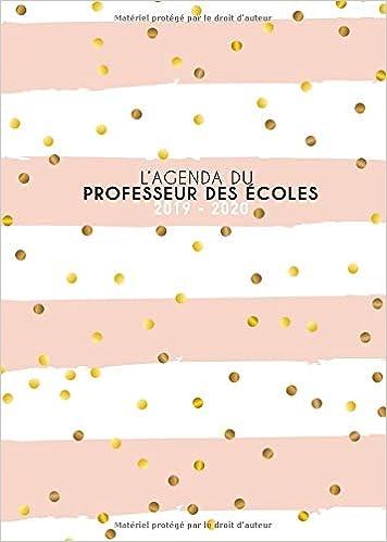 Lagenda du professeur des écoles 2019 2020: Grand format ...