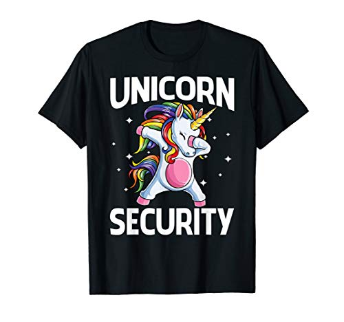 Unicorn Security Shirt Magical Costume Tee Cute Guard ()