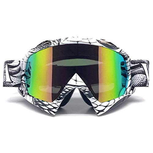 ZDATT Motocross Goggles, ATV Goggles Adult Dirt Bike MX Goggle Glasses and Anti Fog Motorcycle Goggles