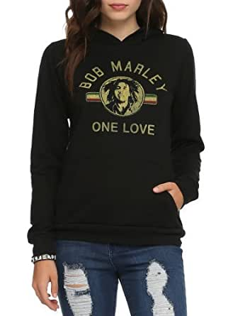 Bob Marley One Love Girls Pullover Hoodie Size : X-Small